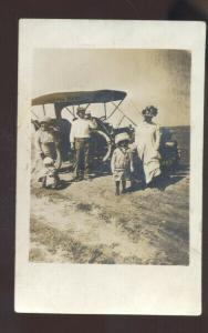 RPPC HOLYROOD KANSAS JAMES OWENS FAMILY ANTIQUE CAR REAL PHOTO POSTCARD
