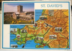 Wales St David's map and cathedral - posted 2006