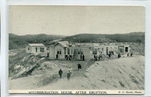 Accommodation House Waimangu After Volcano Eruption Rotorua New Zealand postcard