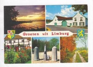 5 Views, Drielandenpunt , Groeten Uit Limburg (Liege), Netherlands, 1940-1960s