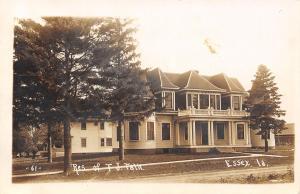 Essex Iowa~TJ Falk Mansion~Poland China Hog Livestock Breeder~1913 RPO RPPC