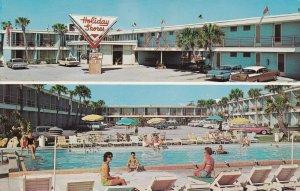 DAYTONA BEACH, Florida, 1940-1960s; Holiday Shores Motel, Swimming Pool
