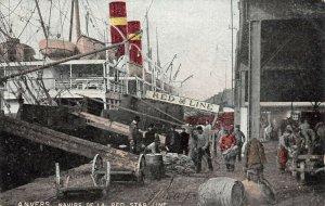 LP56 Ship Vintage Postcard Anvers Navier de la Red Star Line