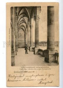 152093 Hungary BUDAPEST New Parliament Unter den Arkaden OLD