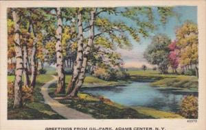 New York Greetings From Gil-Park Adams Center 1948