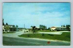 Melbourne FL- Florida, Stone Hill Beach Motel, Advertising, Chrome Postcard