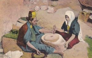 Jerusalem Women At The Mill Making Pottery