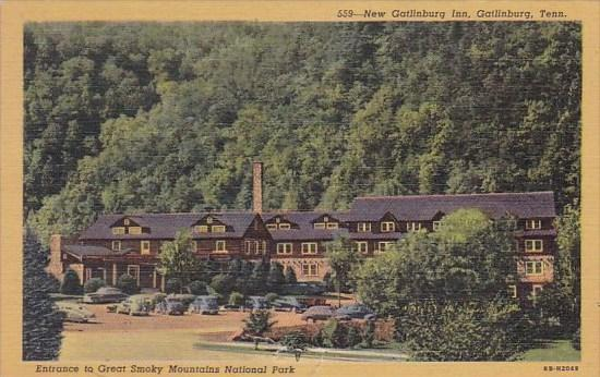 Tennessee New Gatlinburg Inn Gatlinburg Tennessee Entrance To Great Smoky Mou...