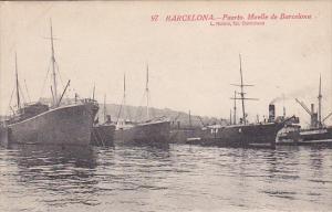 Barcelona , Spain , PU-1921 ; Puerto Muelle de Barcelona