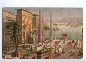 177416 EGYPT Building by MULLER Wachsmuth Vintage Color PC