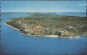 Long Island ME Aerial View Postcard