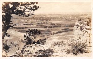 BILLINGS MONTANA VIEWED FROM EAST RIM~REAL PHOTO POSTCARD 1920-30s