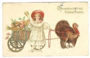 Girl,Turkey drawn cart, PU-1912