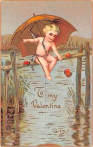 Valentines Day Post Card Old Vintage Antique Writing on back
