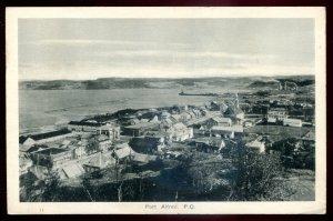 dc733 - PORT ALFRED Quebec Postcard 1930s Birds Eye View