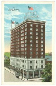 USA, Hotel Keenan, Fort Wayne, Indiana, Postcard