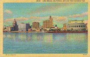 USA Long Beach California Skyline From Rainbow Pier 03.07