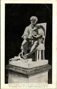 Robert Fulton Statue First Steamboat, Statuary Hall, U.S. Capitol, Washington DC