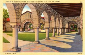 California Palo Alto Arches In Memorial Court Stanford University
