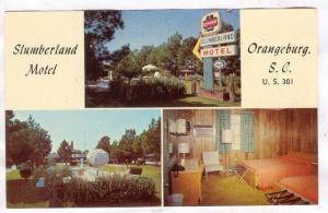 3-Views, Slumberland Motel, Orangeburg, South Carolina, 40-60s