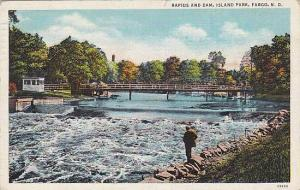 Rapids & Dam, Island Park, Fargo, North Dakota, PU-1936