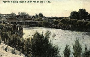 Near Heading, S. P. Ry., Imperial Valley, Cal. Vintage Postcard P136