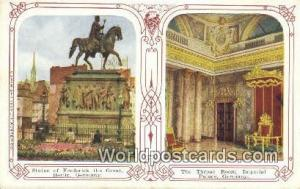 Berlin Germany, Deutschland Postcard Statue of Frederick the Great  Statue of...
