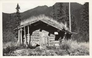 RP, Trappers Cabin on Little Tok River , Alaska, 1930-1940s
