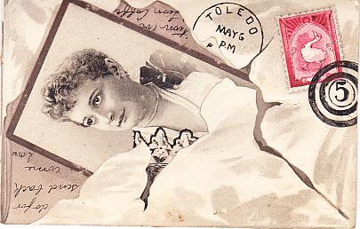 Lion Coffee - Love Letter w/Faux Stamp & Postmark