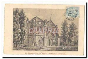 Old Postcard View of the & # 39abbaye of Longpoint