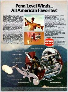 1980's Penn Level Wind 209 Fishing Reel Old Fishing Reel Print Ad