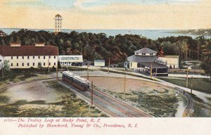 PROVIDENCE, Rhode Island, 1901-07s; Trolley Loop at Rocky Point