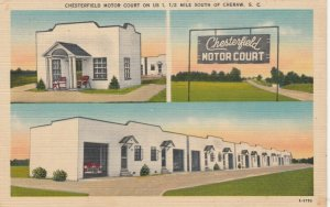 CHERAW , South Carolina, 1930-40s ; Chesterfield Motor Court, 3-views