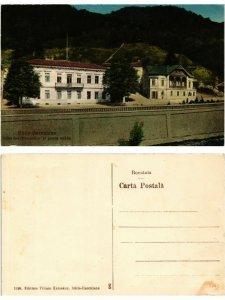 CPA BAILE HERCULANE Casa functionarilor si posta veche. ROMANIA (469498)