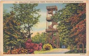 Wisconsin Racine Eagle Bluff Observation Tower Peninsula State Park Door Coun...