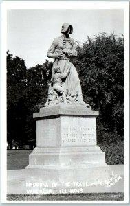 Vandalia, Illinois RPPC Postcard MADONNA OF THE TRAIL Benke Photo c1940s