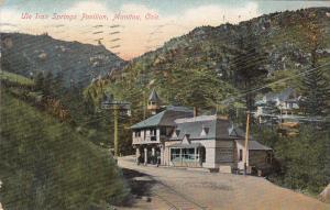 MANITOU , Colorado, PU-1908 ; Ute Iron Springs Pavilion