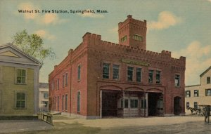 SPRINGFIELD , Massachusetts, 00-10s ; Fire Station , Walnut Street