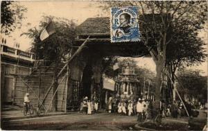 CPA VIETNAM Cochinchine - SAIGON Procession de la Divinite des Chetty (257019)