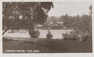 Virginia Water The Lake Surrey Antique Postcard