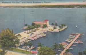 Florida Bradenton Memorial Pier and Yacht Basin 1959