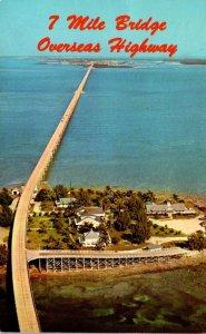 Florida Keys Seven Mile Bridge Over Pigeon Key 1970