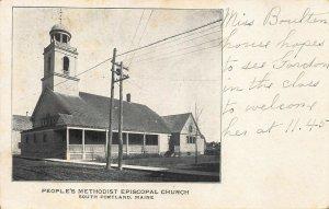 South Portland ME People's Methodist Episcopal Church Postcard.
