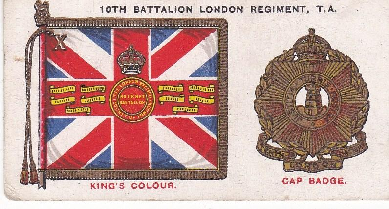 Cigarette Card Player's Regimental Standards & Cap Badges No 48