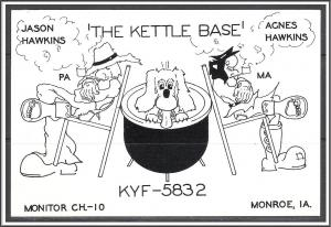 Iowa, Monroe QSL Ham Radio The Kettle Base