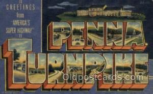 Penna Turnpike USA Large Letter Town Views Old Vintage Postcard Post Cards  P...