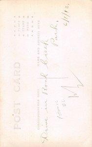 H78/ Washington D.C. RPPC Postcard c1910 Drive Men Rock Creek Park 189