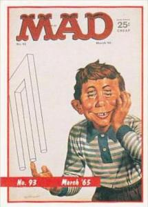 Lime Rock Trade Card Mad Magazine Cover Issue No 93 March 1965