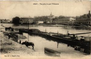 CPA GRAY - Vue prise du quai Villeneuve (452372)