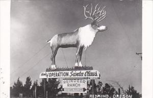 Oregon Redmond Reindeer Ranch Operation Santa Claus Real Photo RPPC